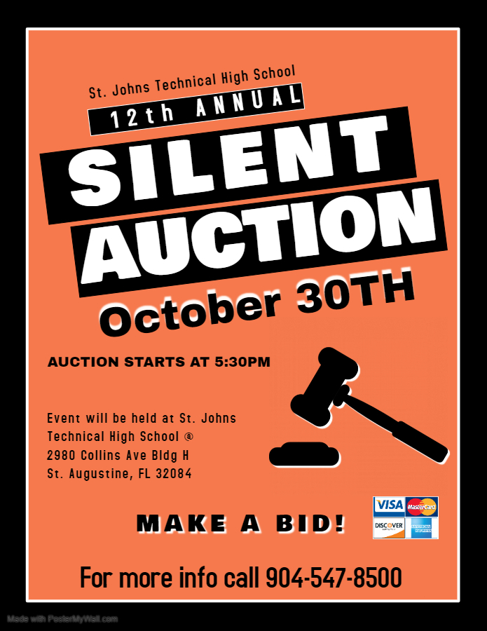 Silent Auction Flyer 2019 St. Johns Technical High School